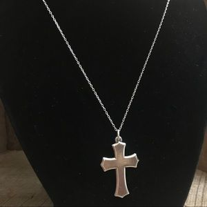 James Avery Cross Pendant on 925 Silver Necklace